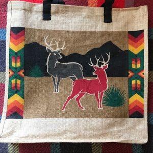 🦌Large Just Tote Bag with Deer